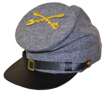 Confederate Plain Grey Forage With Badge Of Your Choice